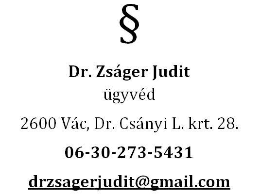 Dr. Zságer Judit ügyvéd